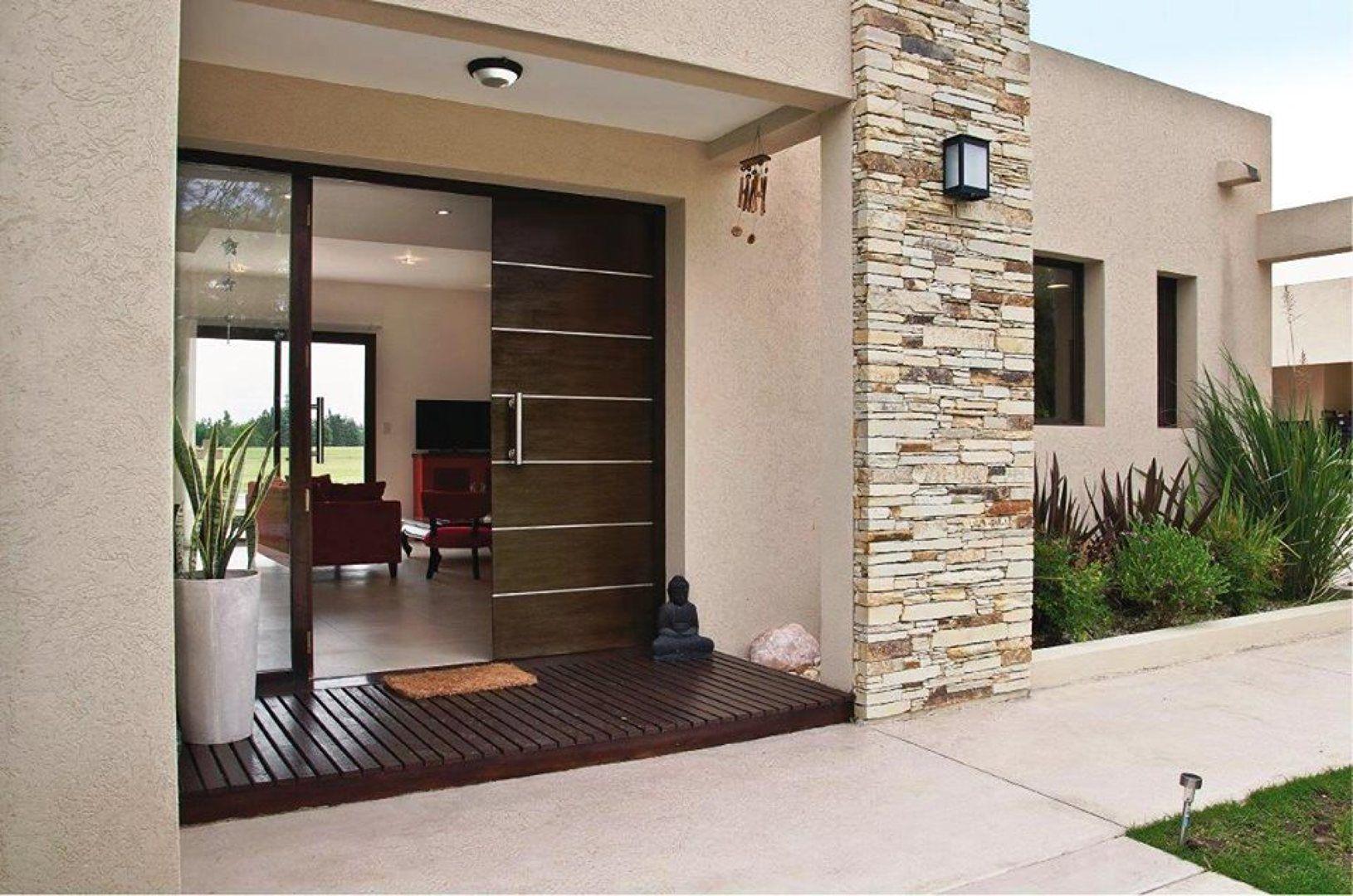 Frente quinchos y piscinas casas casas peque as y for Disenos de frentes de casas modernas