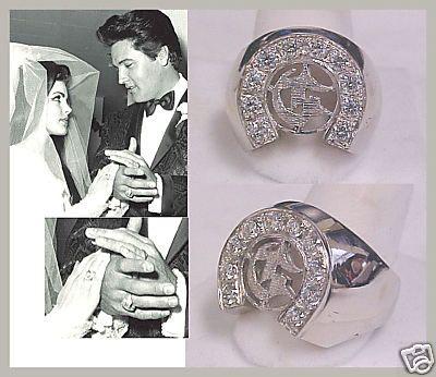 Elvis And Priscilla S Matching Engagement Rings Elvis Wedding Elvis Presley Elvis Memorabilia