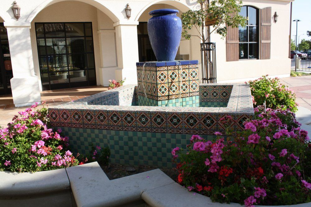 Decoration Tile Pleasing Tile Use In Fountains Mexican Home Decor Gallerymission Inspiration Design