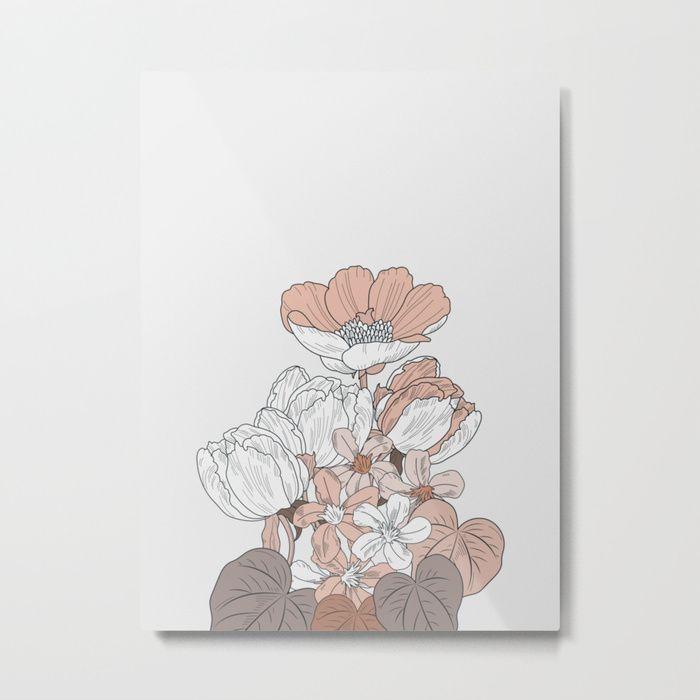 Flower near me 17 Metal Print | Printable art, Framed art ...