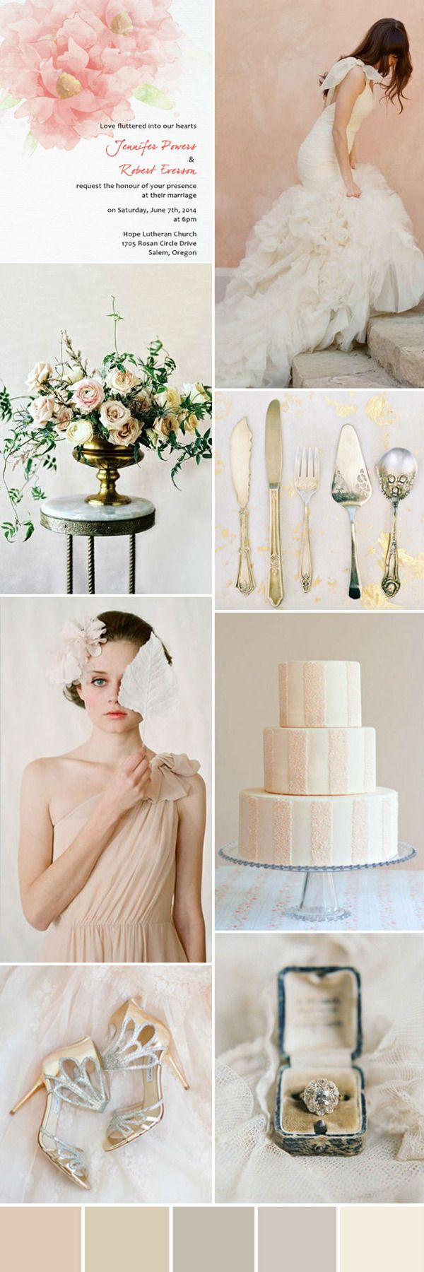 seven wonderful wedding color ideas in shades of pink | Blush ...
