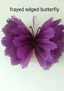 Aprende Como Hacer Estas Hermosas Mariposas Usando Papel De Seda Papel De China Papel Tissue Flor De Paper Manualidades Flores De Papel Como Hacer Mariposas