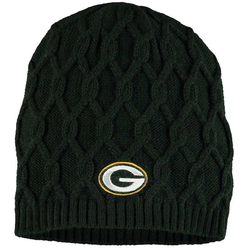 b9689ba8fc6 Green Bay Packers NFL Pro Line Women s Braided Knit Beanie - Green Gorrita  Tejida