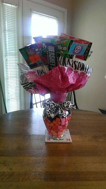 Candy Bouquet For My Sisters 18th Birthday I Put A Few Gift Cards In There As Well