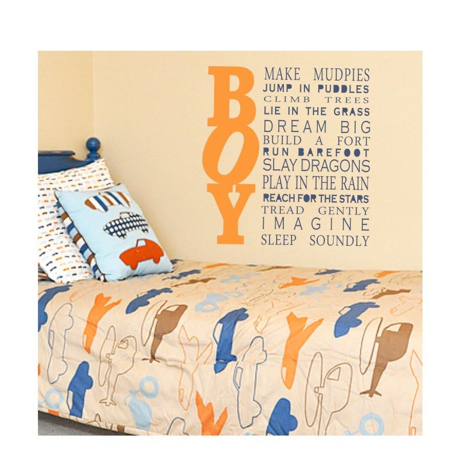 ALL BOY quote nursery or toddler room decal by loladecor on Etsy ...
