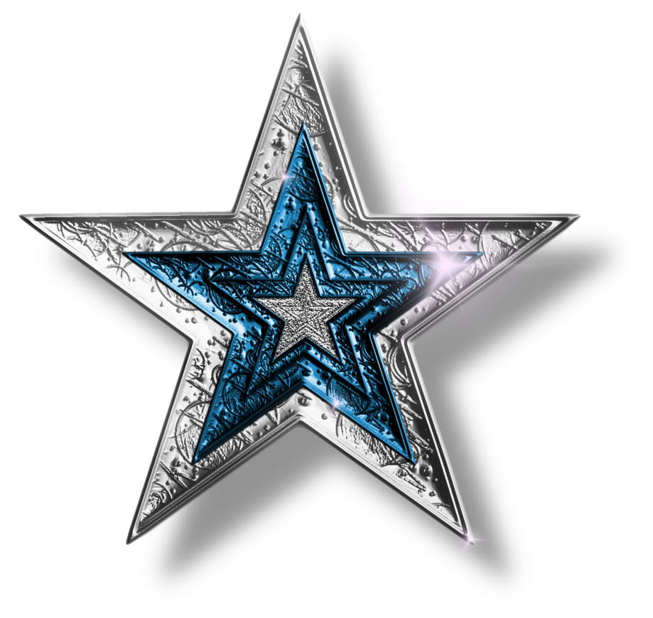 Silver Blue Star Png By Jssanda On Deviantart Desain