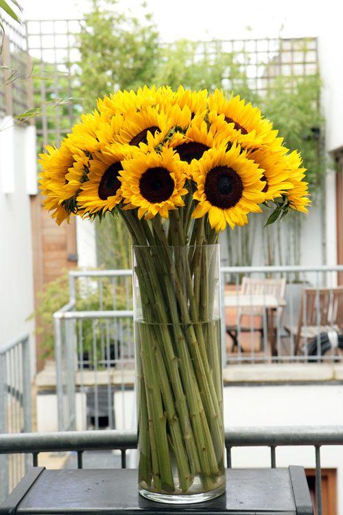 Ellenzee Sunflower Arrangements Sunflower Centerpieces Sunflower Vase
