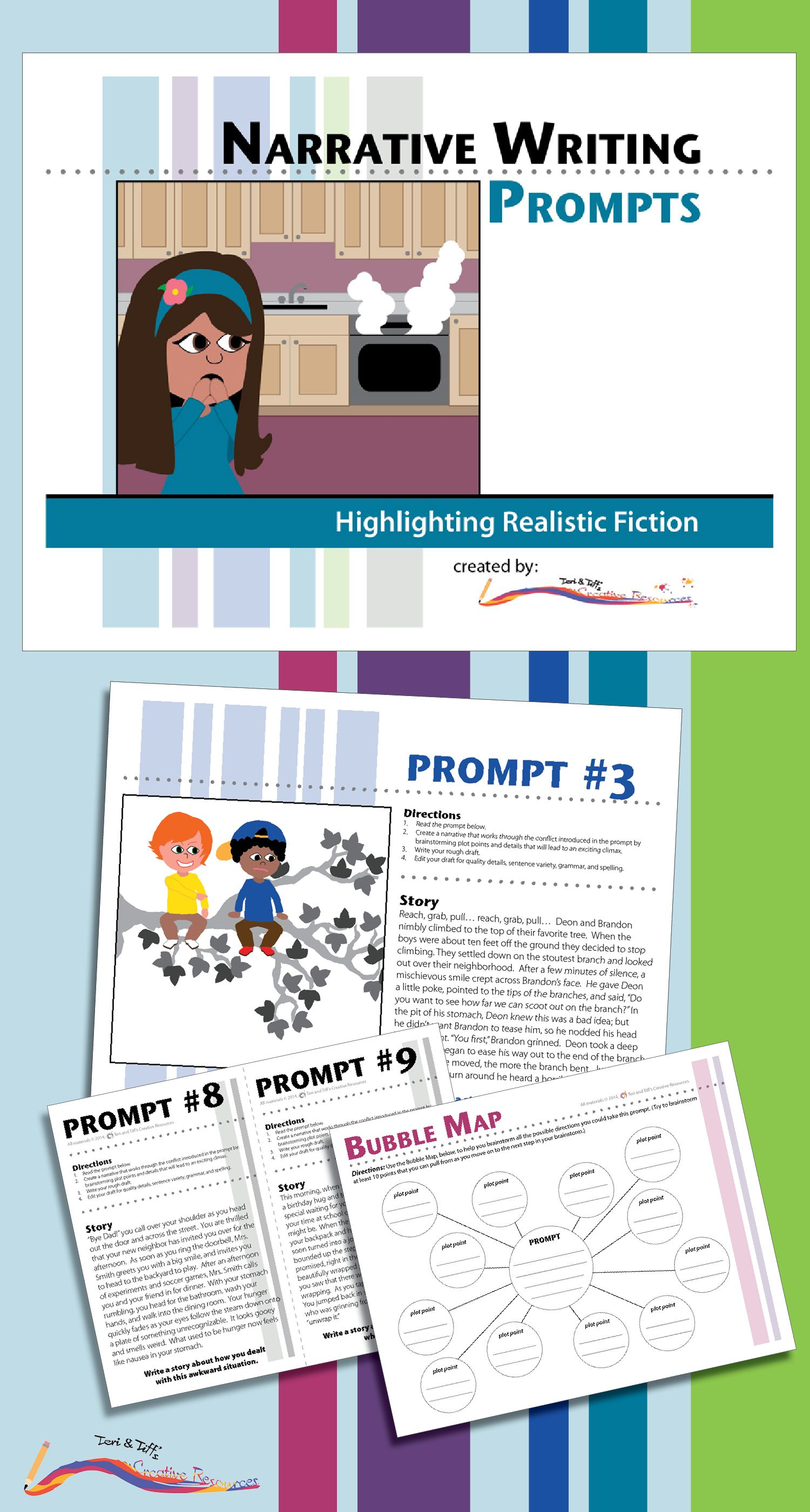 Narrative Writing Prompts Highlighting Realistic Fiction