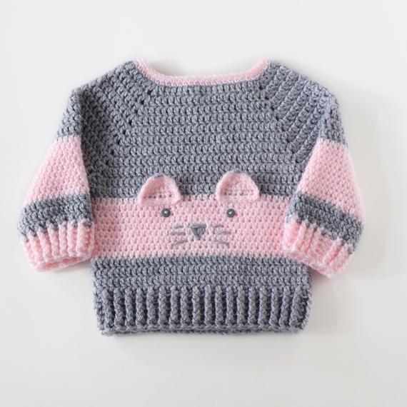 Photo of Baby-Mädchen-Pullover, Baby Cardigans, Baby-Mädchen-Geschenk, 1. Geburtstagsgeschenk für Mädchen, Pullover Pullover, häkeln Baby-Kleidung, individuelle Pullover