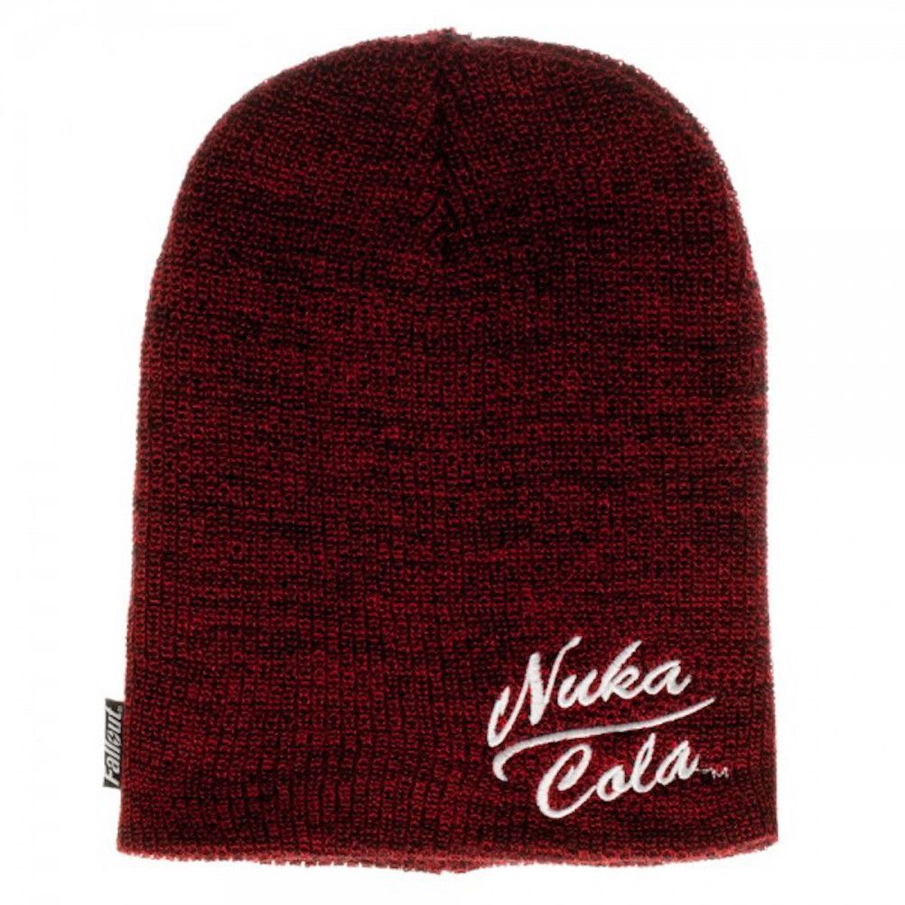 a03296595af Fallout Nuka Cola Embroidered Logo Slouch Beanie Knit Hat Bethesda ...