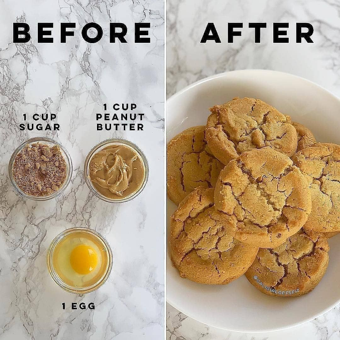 Hey All You Smart Cookies Here S An Awesome Easy 3 Ingredient Peanut Butter Cookie Recipe That S So In 2020 Healthy Snacks Recipes Peanut Butter Cookie Recipe Food