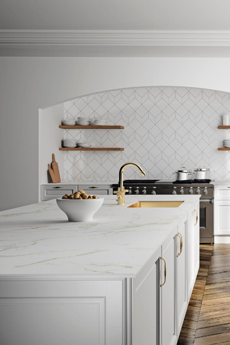 Weisser Marmor Naturliche Schonheit Und Eleganz My Perfect Kitchen Magazin In 2020 Marmor Arbeitsplatte Kuchen Design Weisser Marmor