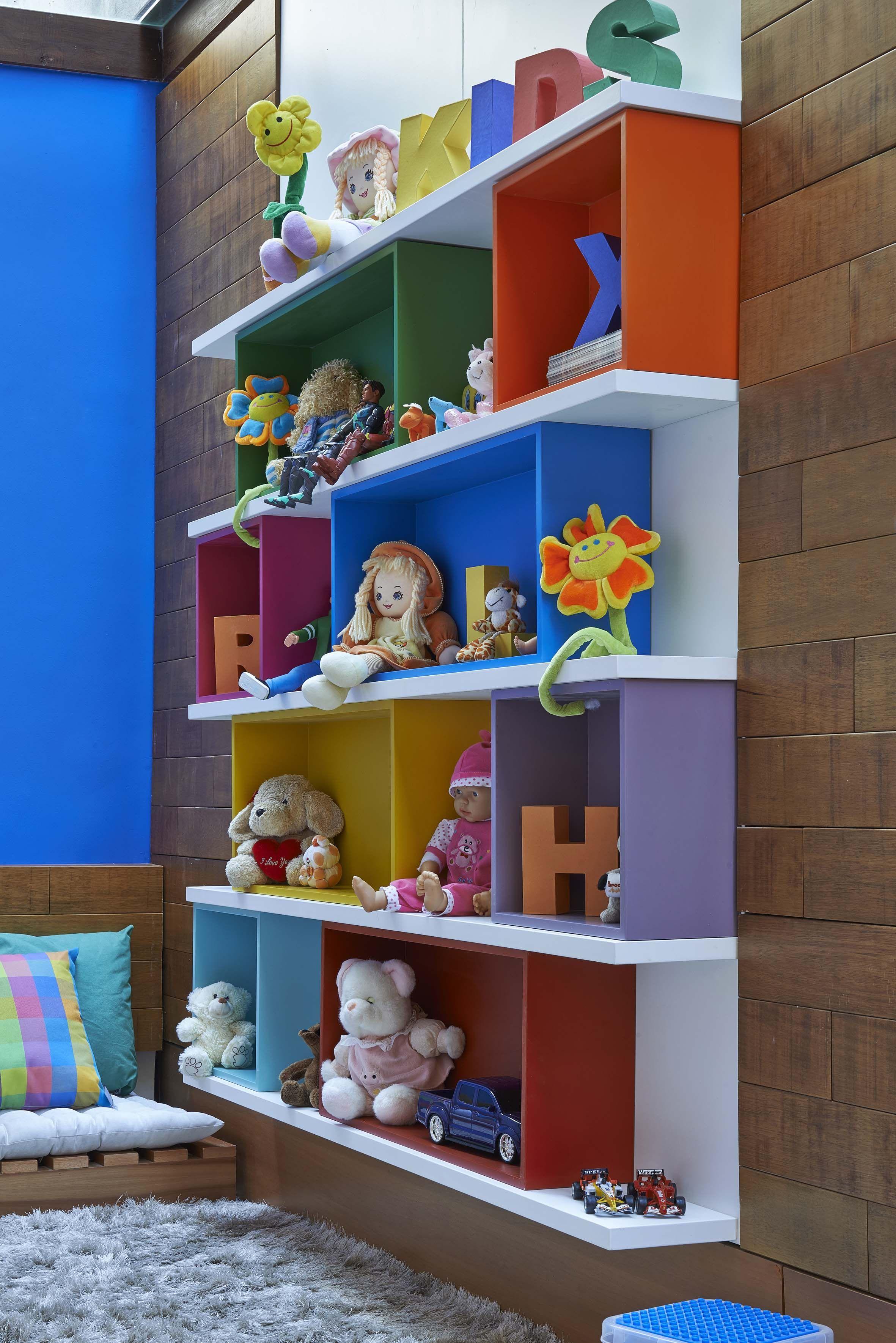 Estante Planejada Espa O Kids Por Eduardo Cunha M Veis  ~ Como Organizar O Quarto Da Bagunça