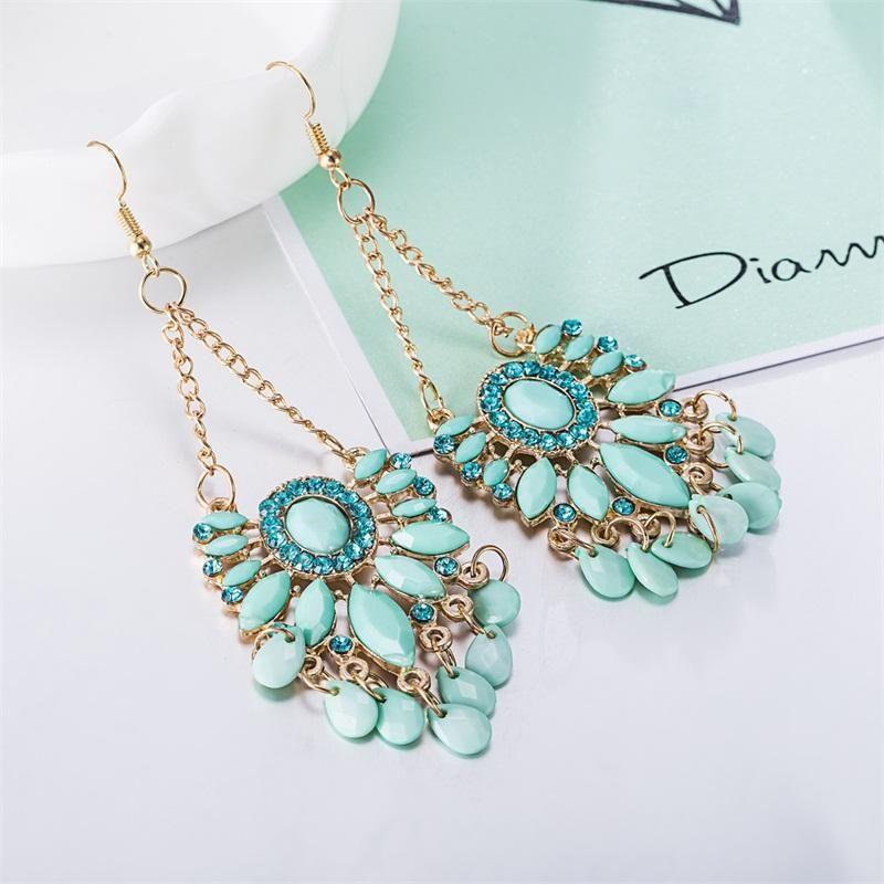 Mint Green Bohemia Dangle Earrings