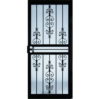 steel door lowes. Shop Larson Garden View Black Steel Security Door  Common x Actual at Lowe s Canada Find our selection of security doors the lowest price guaranteed 34 in 81