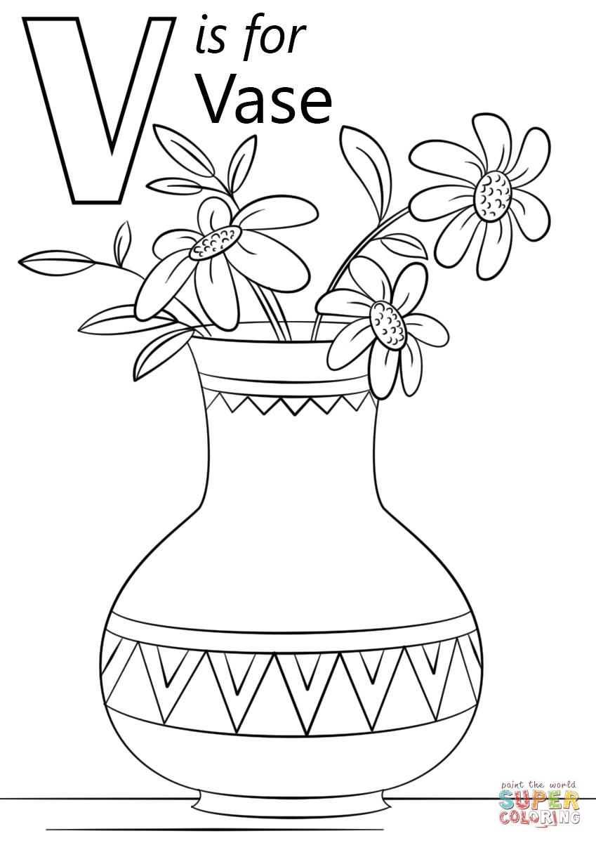 Letter V Is For Vase Coloring Page Free Printable Coloring Pages Alphabet Coloring Pages Letter V Crafts Alphabet Coloring