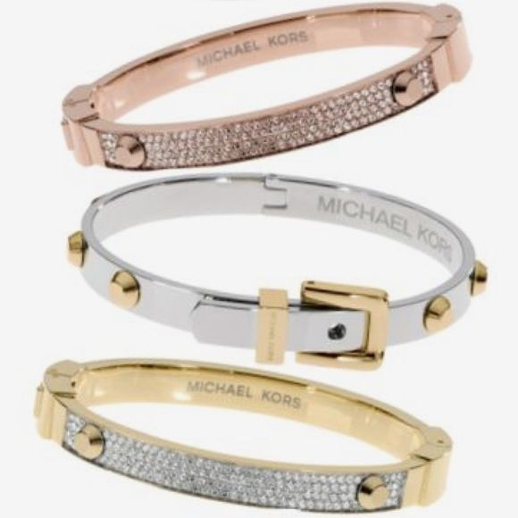 Michael Kors Silver And Gold Belt Buckle Bracelet Nwt My Posh