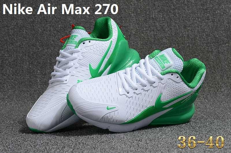 1c7498b59472 Nike Air Max 270 KPU Green White Women Shoes