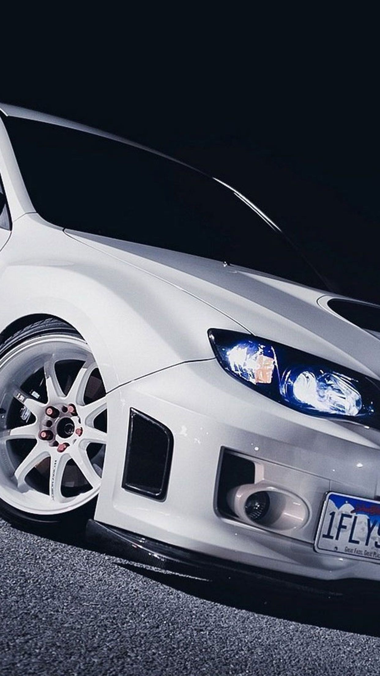Subaru White Car Wallpaper For Iphone Android Subaru