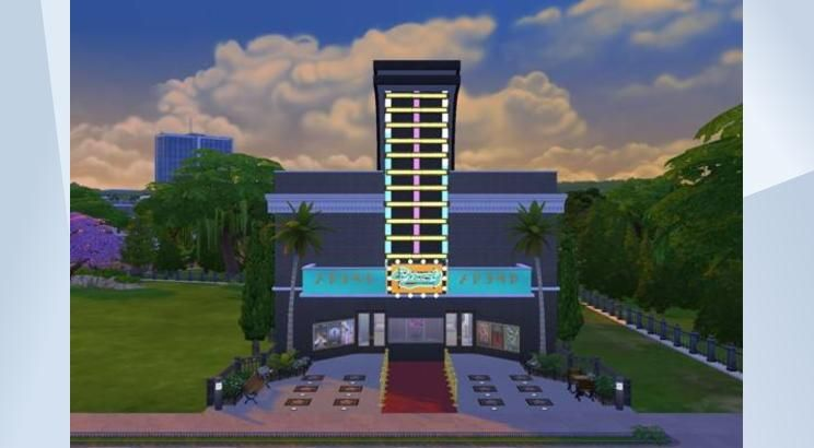 Check out this lot in The Sims 4 Gallery! - This is version 2 for my Neon Plumbob Cinema! Made touches to the place leaving it feeling Perfect place to take all your family sims for a fun day out with !#buildnewcrest  Follow me