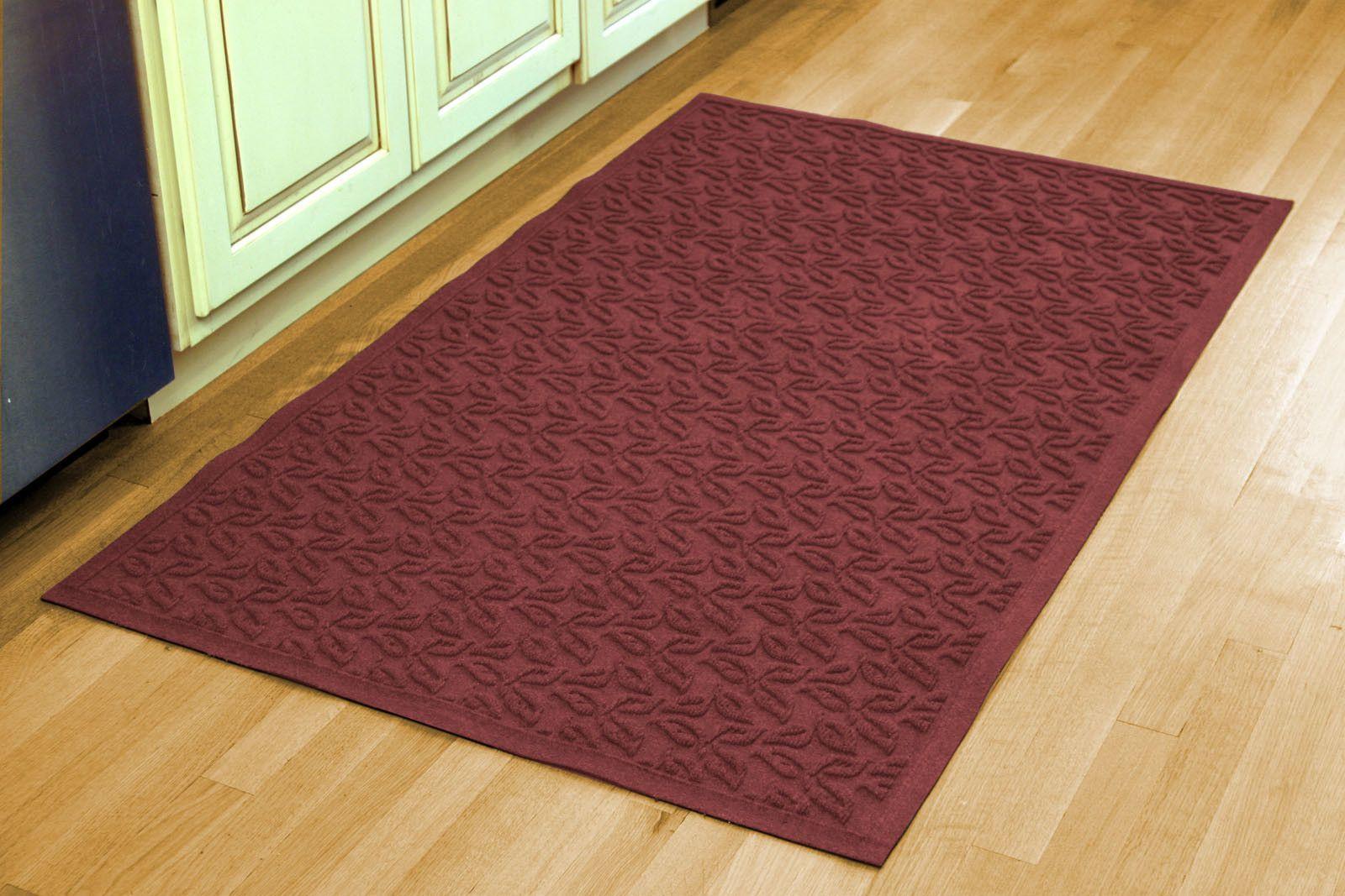 Aqua Shield Dogwood Leaf Doormat Indoor door mats, Door