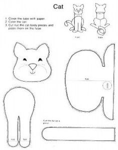 GatoMania: Riscos e/ou Moldes para Artesanato de Gatos