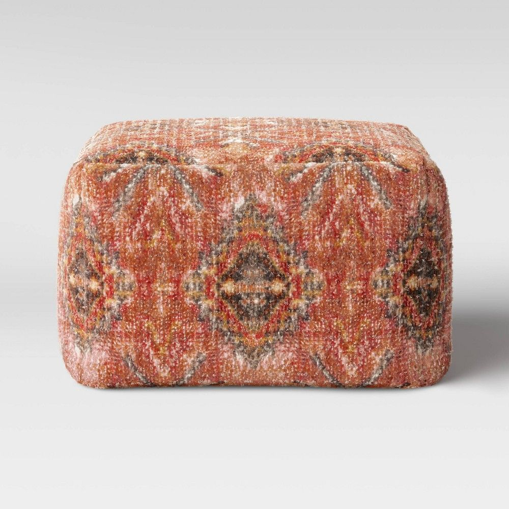 Florence Persian Rug Pouf Red Brown Threshold In 2020 Persian