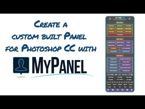 Build A Custom Panel For Photoshop Cc Youtube Photoshop Custom Photoshop Me