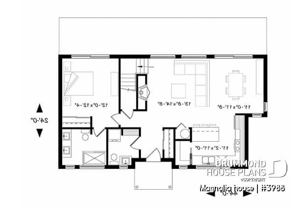 Discover the plan 3988 Magnolia house which will please you for its 3 bedrooms and for its Modern rustic styles