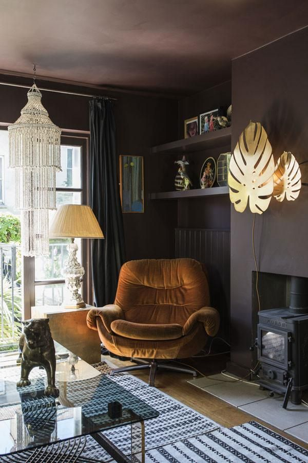 Tropical Dark And Colourful In A British Townhouse
