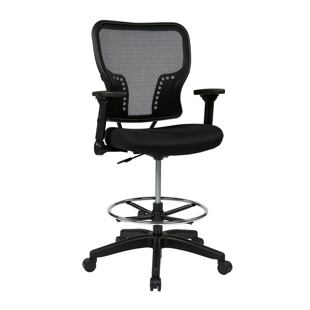 Deluxe padded mesh seat chair with 4way adjustable flip