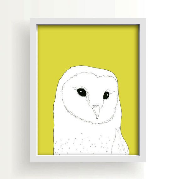 Owl Owl Drawing Large Wall Art Large Art Poster By Paperandcanvas 10 00 Owl Wall Art Owls Drawing Modern Wall Art Prints