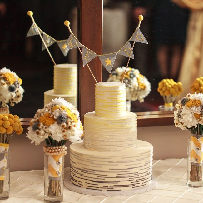 Gray Yellow And White Ombre Wedding Cake Kimberly Salem Photography Nine