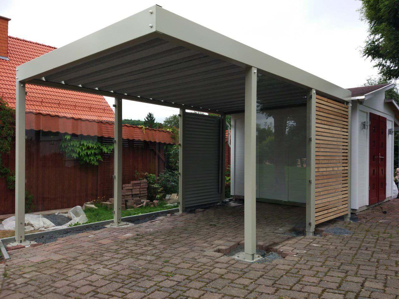 design metall carport aus holz glas stahl aachen deutschland, Moderne