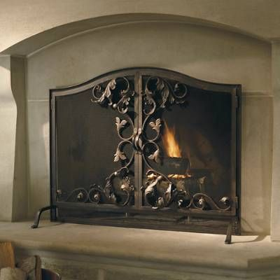 Our Toscana Fireplace Screen Features Beautifully Hand Forged
