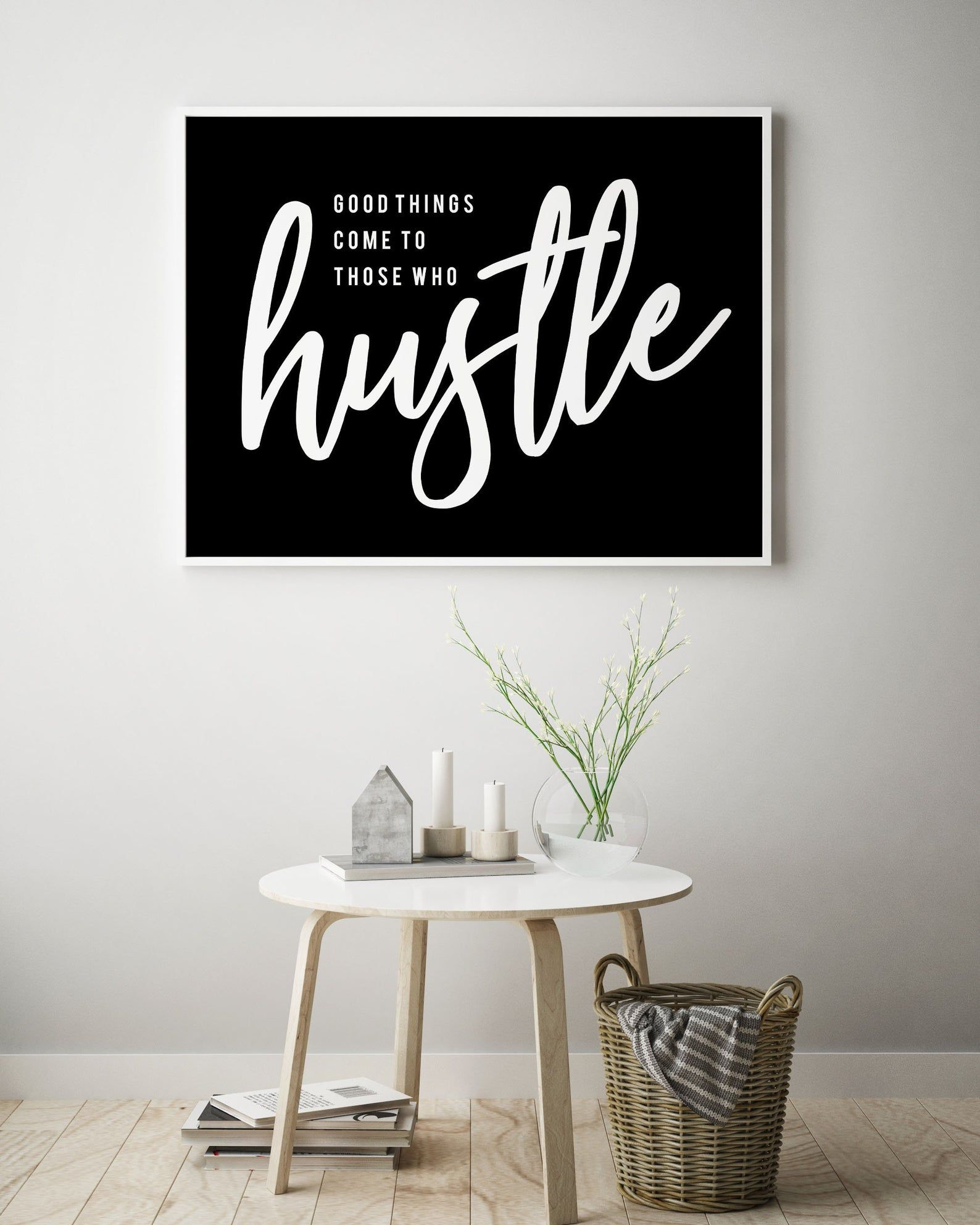 Office Wall Art Hustle Quote Black Typography Poster Etsy In 2020 Office Wall Art Printable Wall Art Quotes Wall Decor Printables