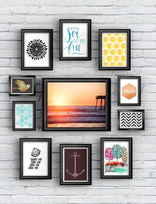 How to Create a Modern Farmhouse Gallery Wall Pattern print