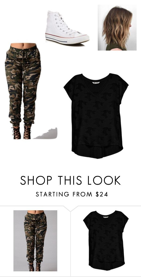 """""""Untitled #25"""" by ariannadubois on Polyvore featuring Bobeau and Converse"""