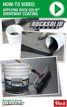 How To Apply Rock Solid Driveway Sealer Http Www Menards Com