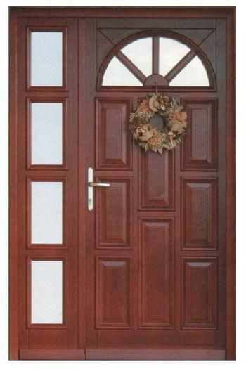 2 wings wooden front door, Code: 38