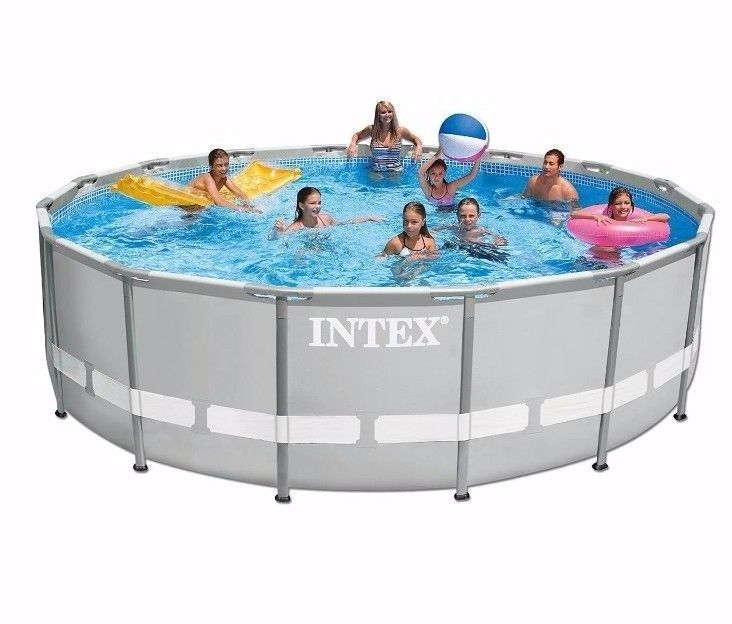 15x48 Round Above Ground Swimming Pool Set w Metal ultra Frame ...