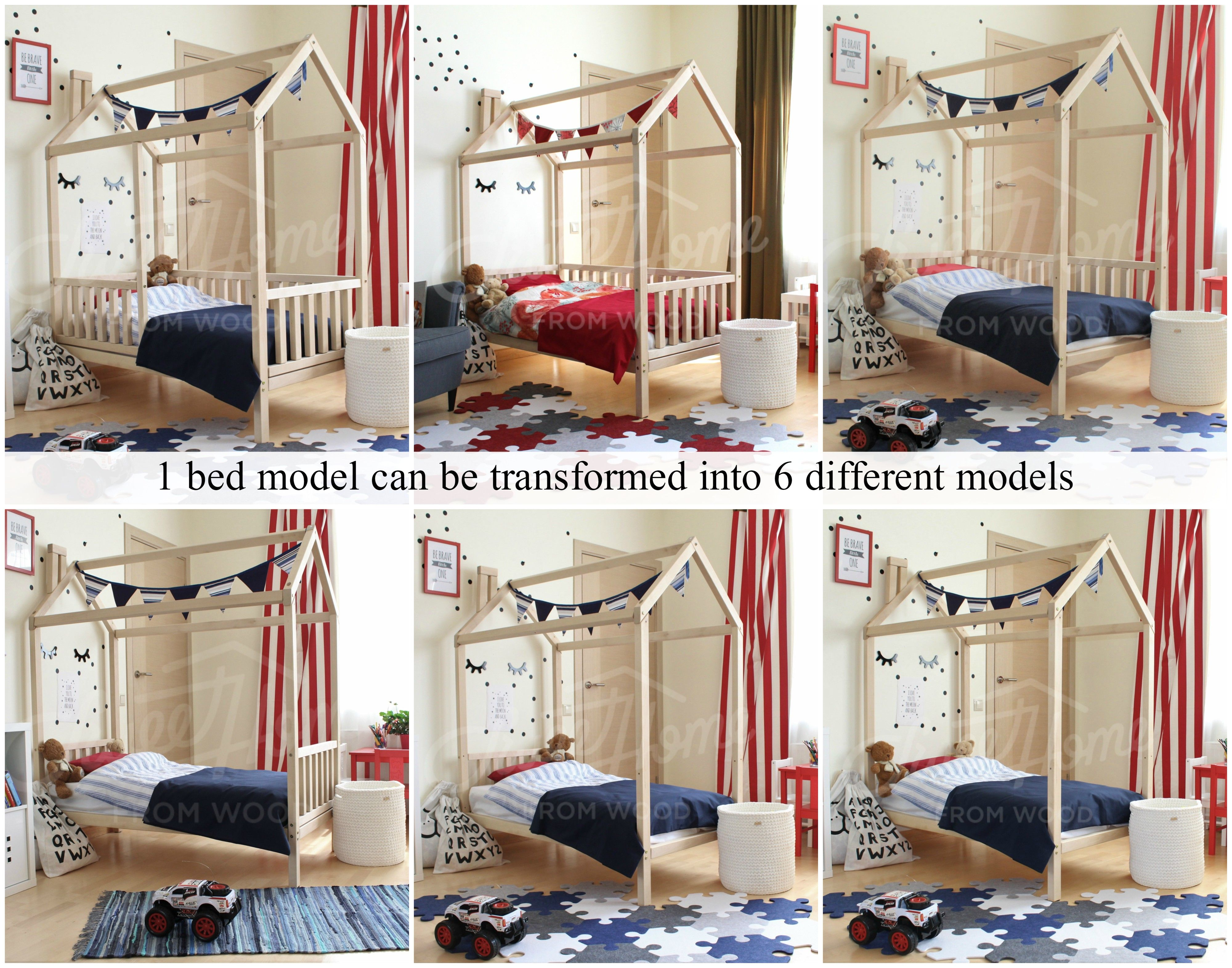 Shared child room, kids room ideas. House bed, bed house, kid\'s ...