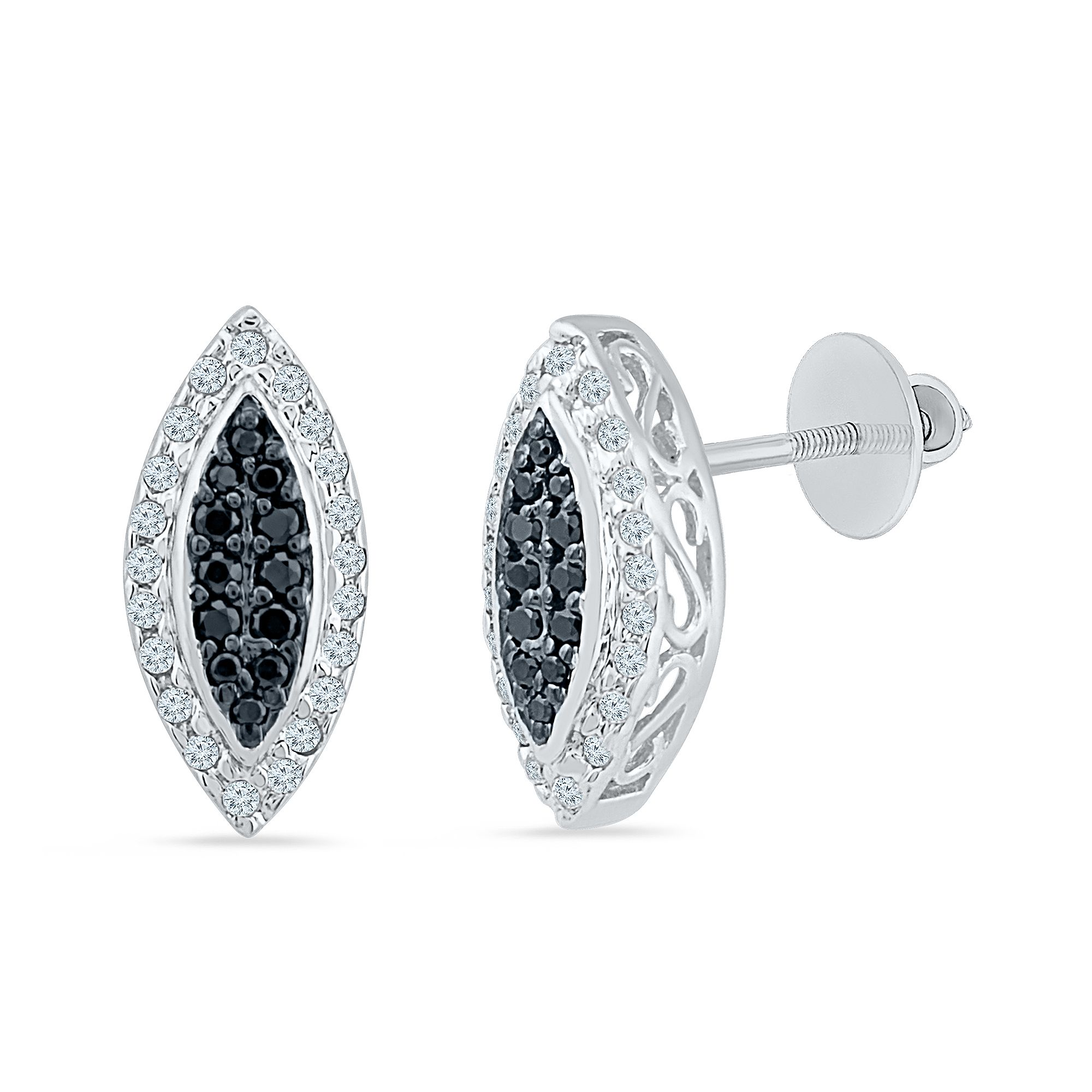 6a24cecbb Buy black and white diamond stud earrings in white and yellow gold online  with Radiant Bay. Explore latest designs at best price in india. Purity  Guaranteed
