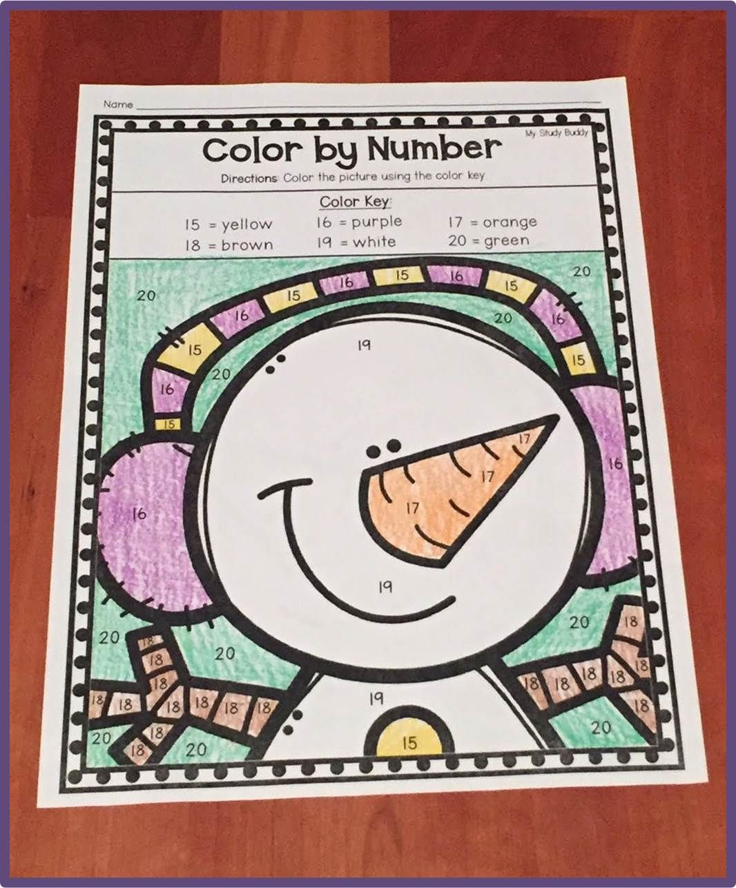Winter Activities Numbers 1 20 Winter Math Worksheets