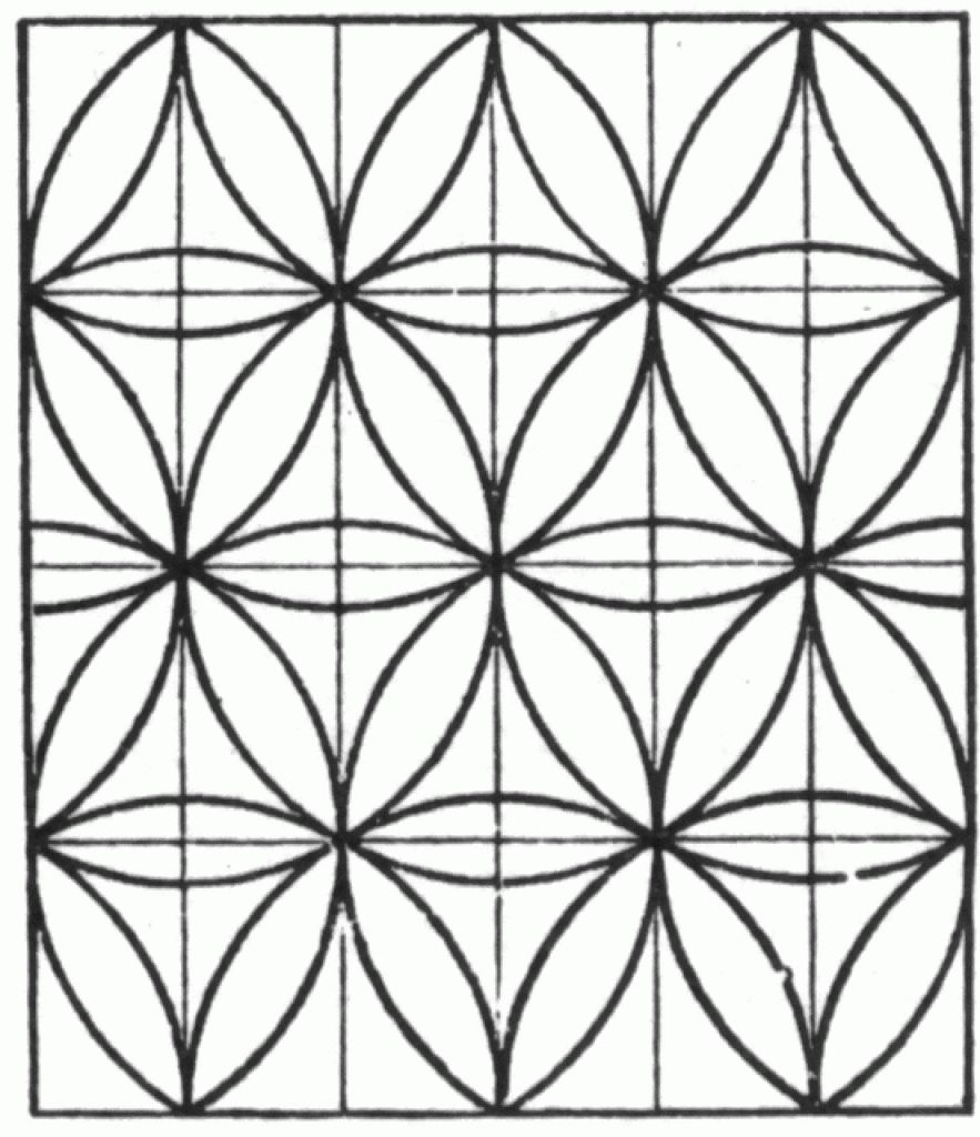 Simple Tessellation Printable Coloring Picture | Adult Coloring ...