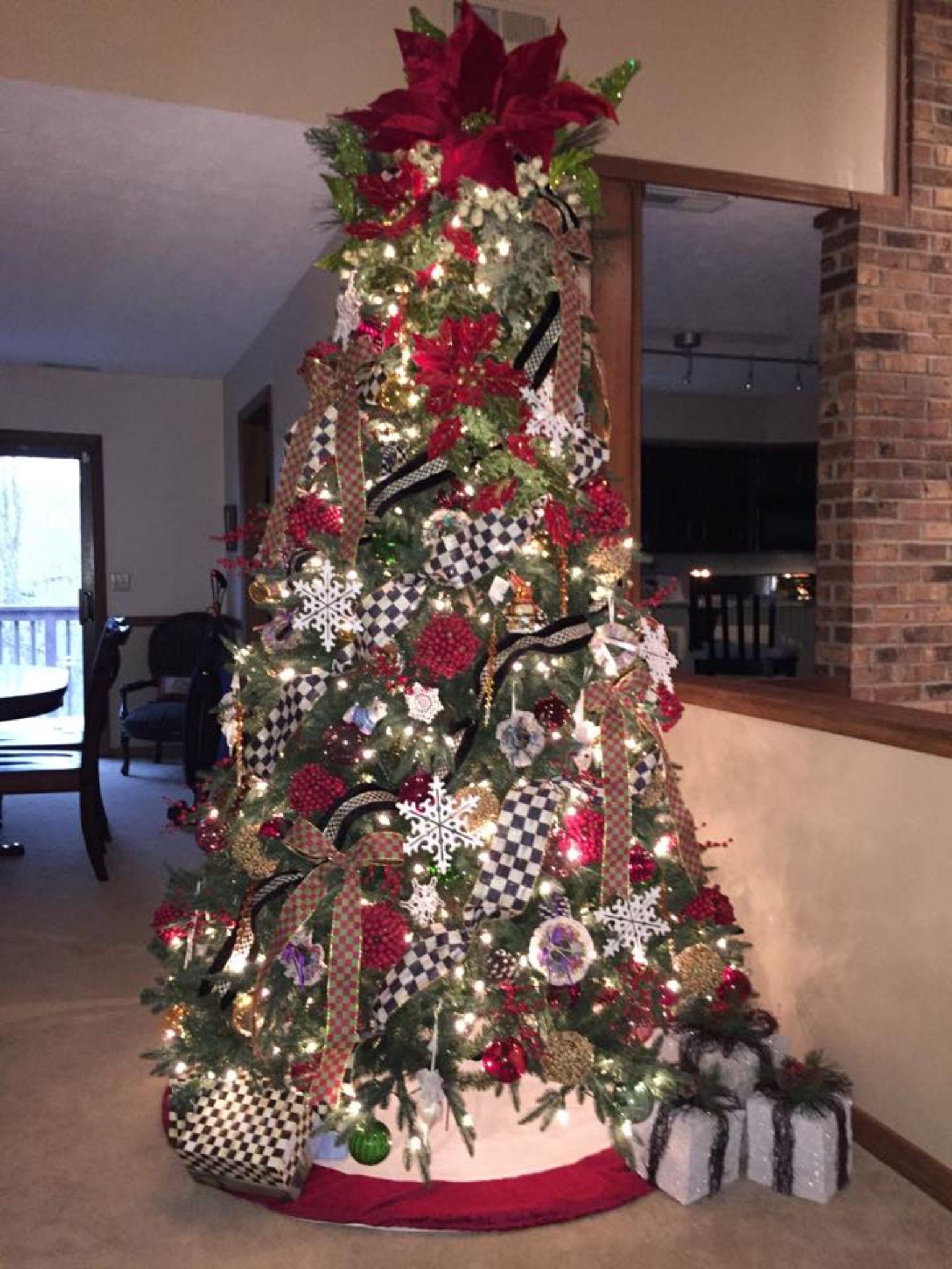 MacKenzie Childs-inspired tree!   Elegant christmas tree ...