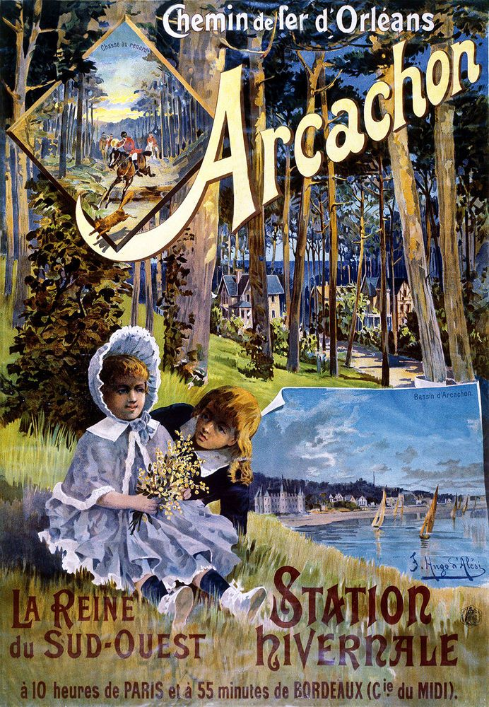 Auvergne 2 Affiches, foto's, kaarten Affiche chemin de fer Orléans