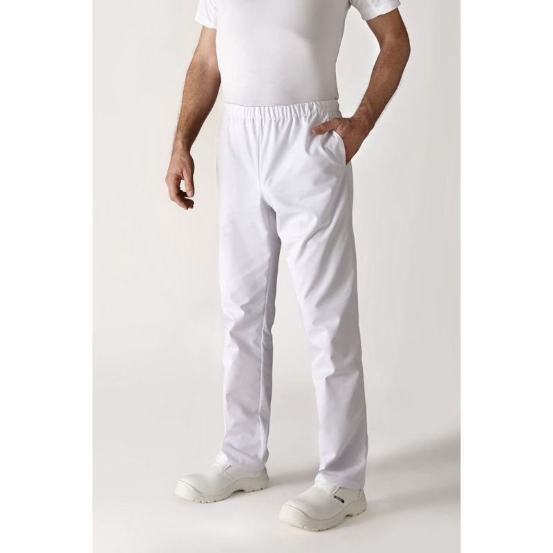 Pantalon De Cuisine Robur Umini Mixte Blanc 3xl 64101 Blouse