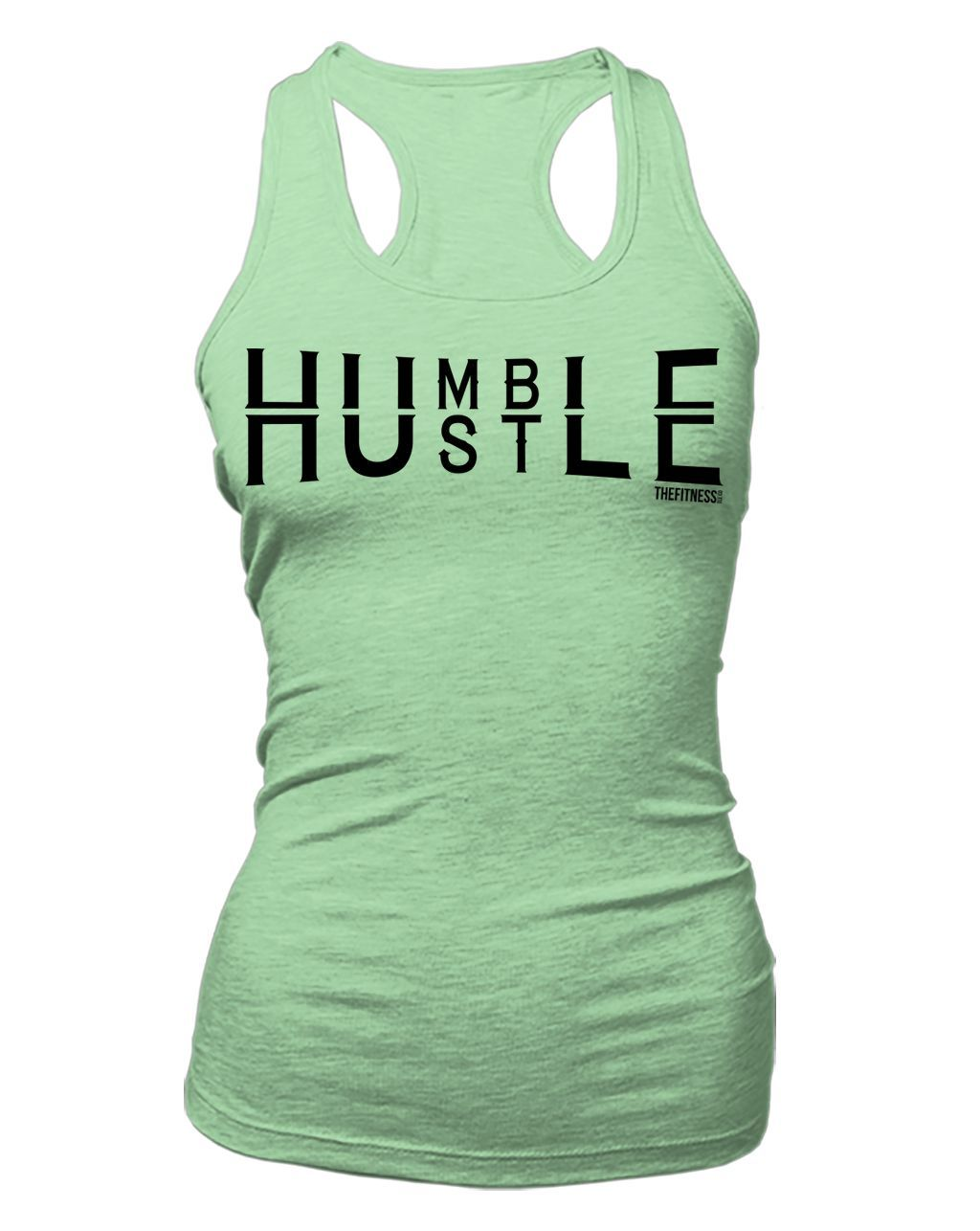 Humble hustle - Fitted Racerback