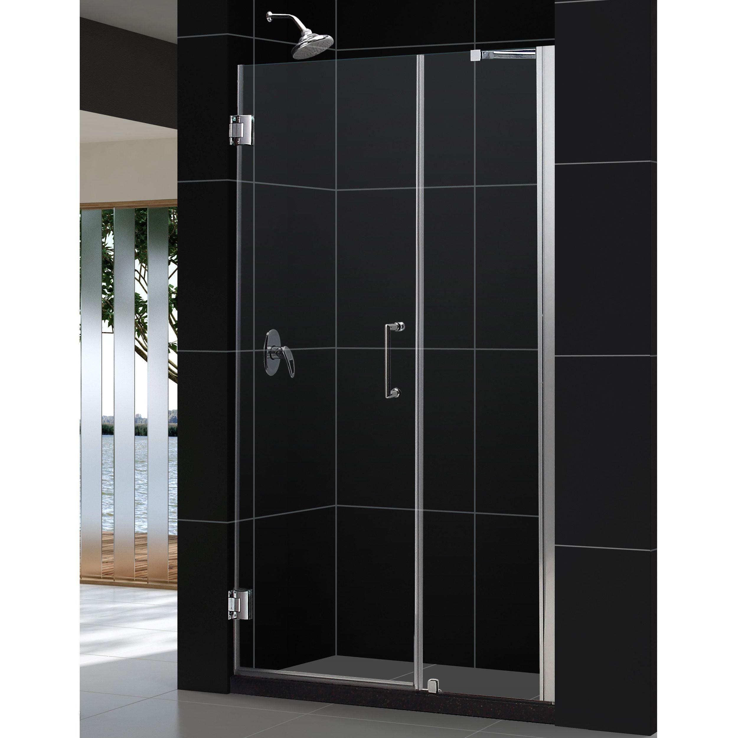 Dreamline Unidoor 45 49x72 Inch Frameless Hinged Shower Door 48 49